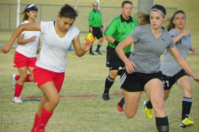 HS Girls' Soccer Kicks off Season with a Scrimmage