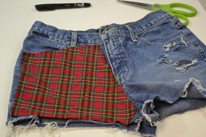 DIY Patterned High Waisted Shorts (No-Sew!)