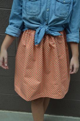 (Almost) No-Sew Stylish Skirt