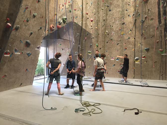 Climbing at Climbmax