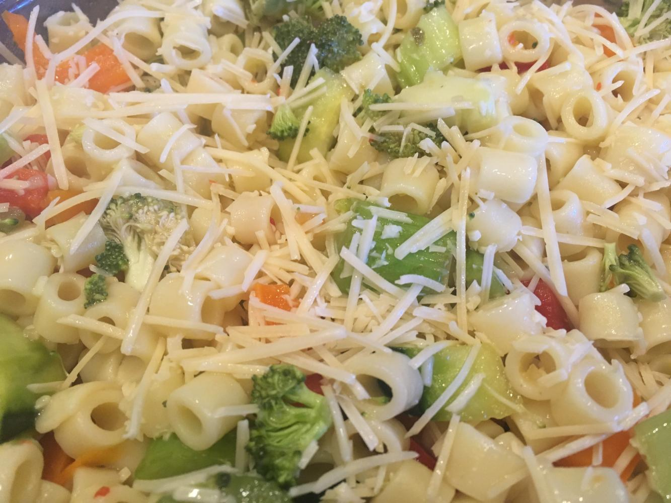 This pasta salad is perfect for summer.
