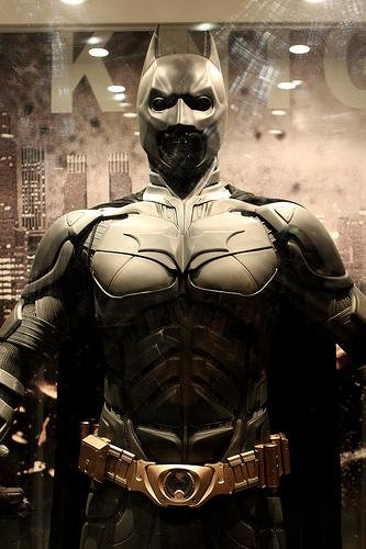One of the suits of Batman's armor used in the Nolan film trilogy.