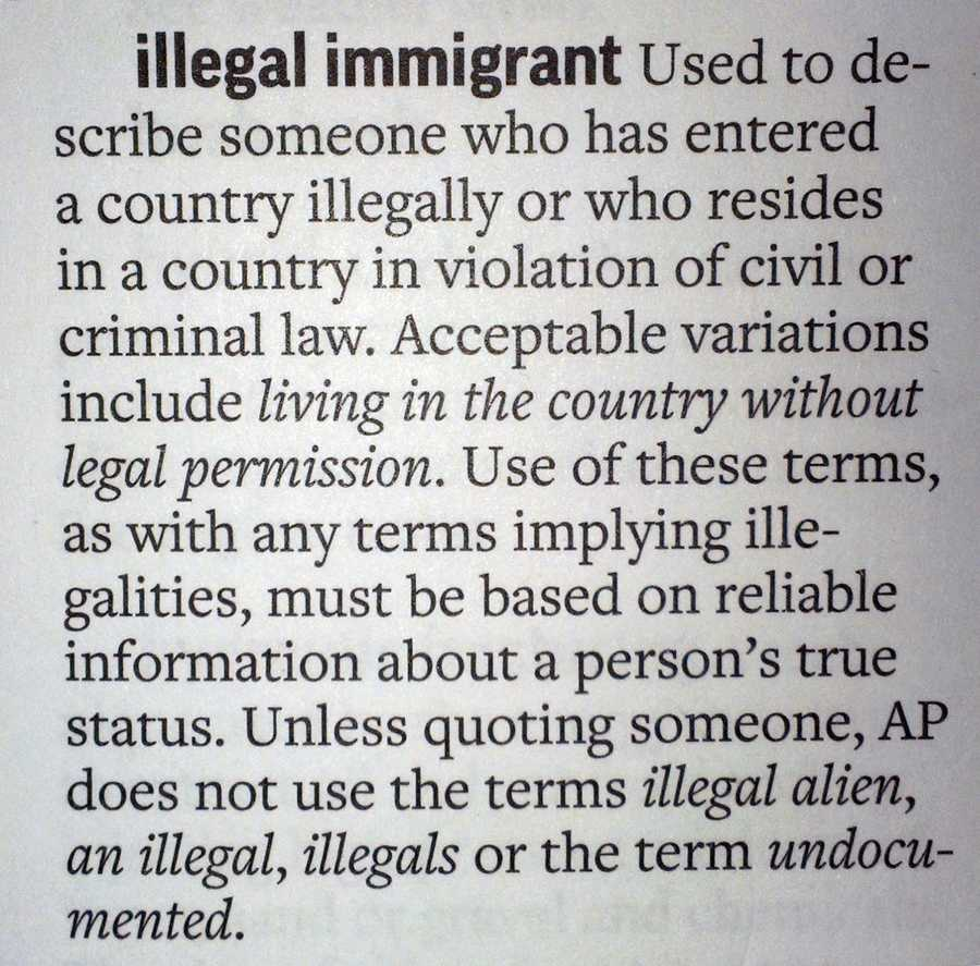 Associated Press Bans the Term 'Illegal Immigrant'