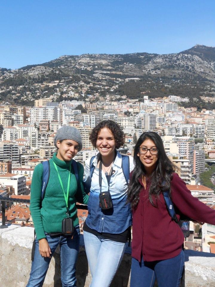 Sam Richardson, grade 12, Meredith Pendelton, grade 10, and Anya Hernandez, grade 12, pose during the trip.