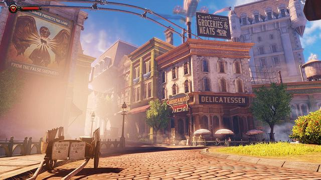 """Courtesy of Devin Jones """"A beautiful display of the graphic capabilities of the Unreal Engine. After leaving the church, you are greeted by the vibrant colors of gorgeous Columbia."""""""