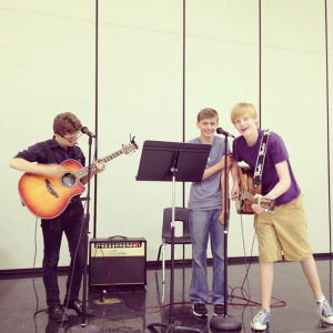 Joey, Josh, and Zane practicing together. Photo taken by Bennet Wood.