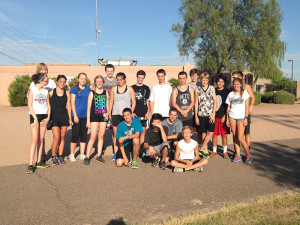 The cross country team after morning tryouts. Photo courtesy of Natori Cruz, Copyright © 2013 Natori Cruz.