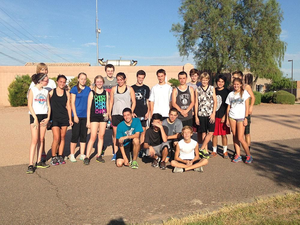 The+cross+country+team+after+morning+tryouts.+Photo+courtesy+of+Natori+Cruz%2C+Copyright+%C2%A9+2013+Natori+Cruz.