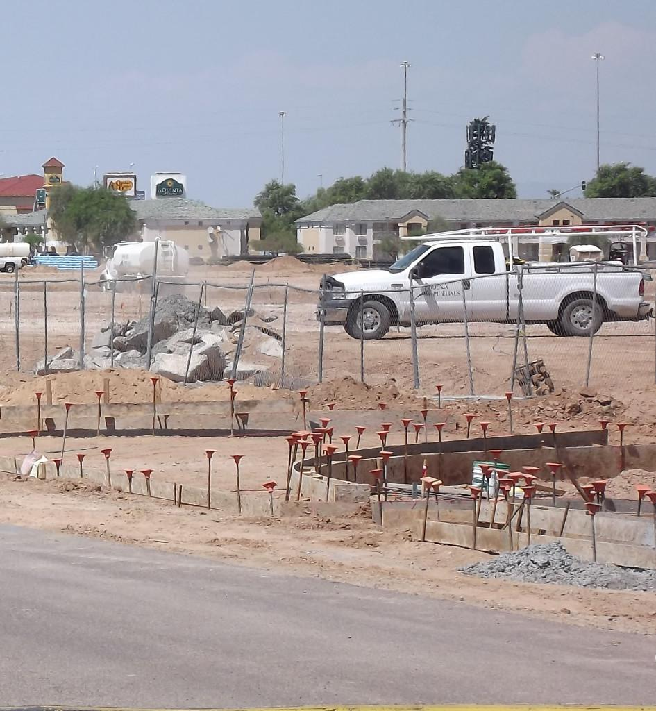 Construction on Frye road causes traffic problems for Horizon parents. Construction began over summer break of the 2013-2014 year.