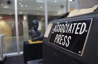 A sign located at the Walter Cronkite School of Journalism.