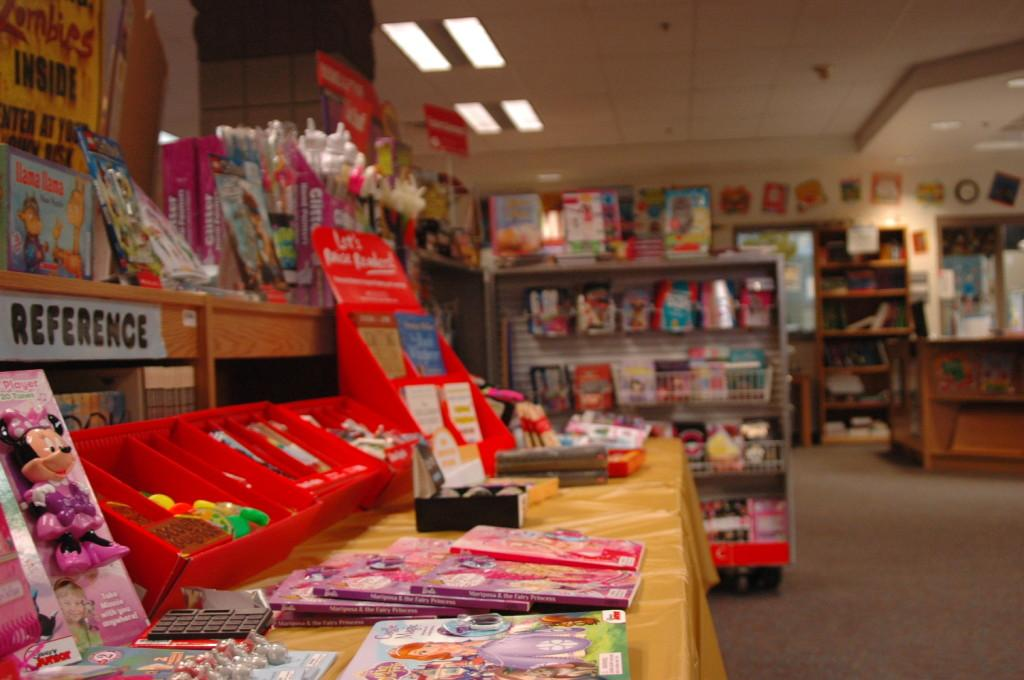 The book fair offers a selection of books for students to purchase. The book fair runs from Sept. 23 through Sept. 26.