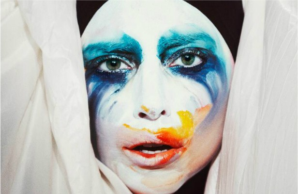 "One of many makeup looks for Lady Gaga's new video ""Applause.""
