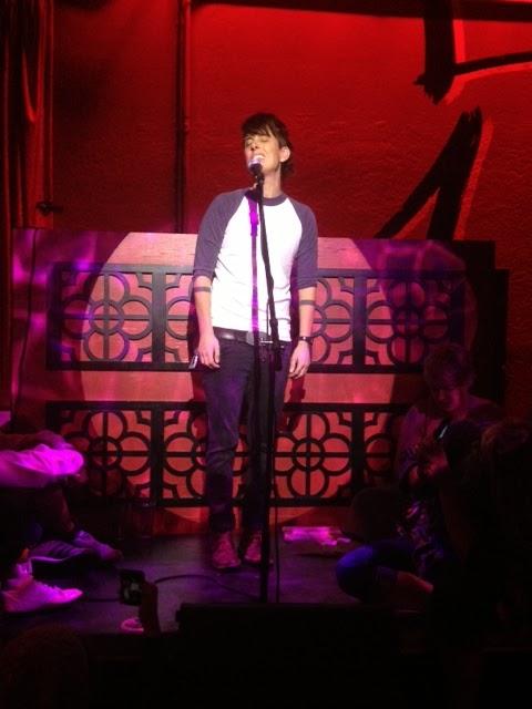 Andrea Gibson performing in Flagstaff, Arizona