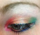 Makeup Tutorial: Sparkly Rainbow Eyes