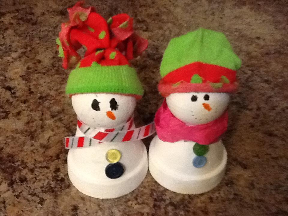 DIY+Clay+Pot+Snowmen+Decorations
