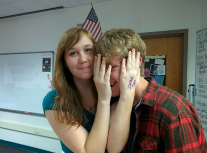 Senior Tabby Smith and junior Evan Rosser make a happy couple. Being high schoolers, it makes sense for them to have a relationship.