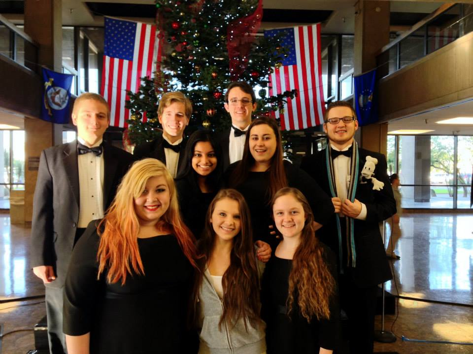 Cantabile Honors Chorale, Class of 2014 poses for a picture. The honors choir performed at the Arizona State Capitol in December in celebration of the holiday season.