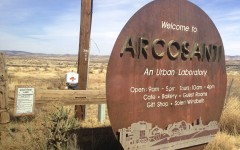 """""""Welcome to Arcosanti"""" is Arcosanti's greeting sign. Arcosanti is an incredibly unique community that is based upon the art of architecture mixed with the practicality of ecology."""