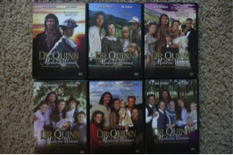 This is the whole Dr. Quinn: Medicine Woman series, if you get them in discs. The covers  of the boxes show the family progressing over time.