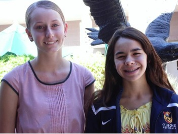 On right, NJHS president Maggie Kenzler and Emily LaBatt, NJHS member, stand side by side for their picture.  These students are among such that enjoy ways to give back to their community.