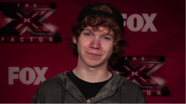 """Screen shot from Chase Goehring explaining how it felt to get a """"yes"""" from all the judges. Getting interviewed right after his The X Factor audition."""