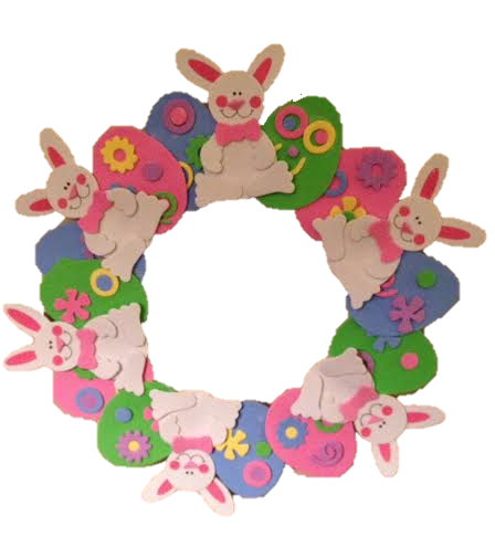 Here is one of the Spring decorations, an Easter wreath.