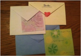 Letters are a great way to keep in touch with long distance friends. Unlike emails, many people keep letters they receive  because they are more personal.
