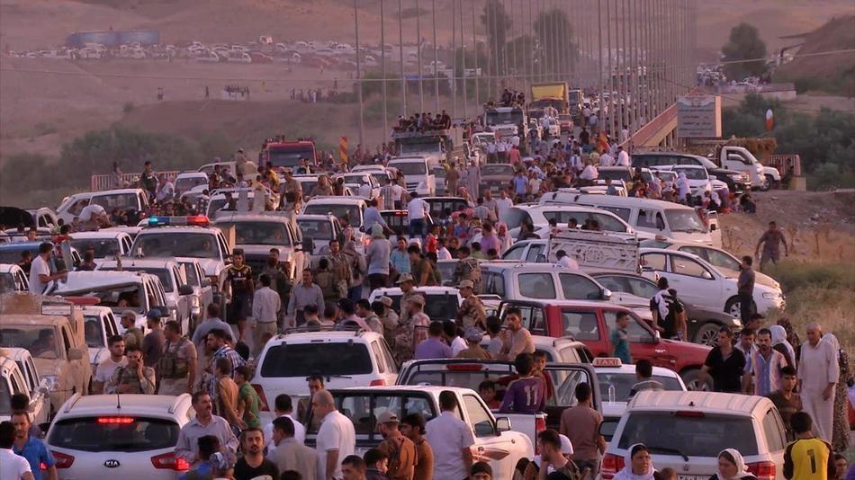 Displaced ethnic groups, such as the Yazidi pictured here, flee their homes after ISIS attacks. Iraqi minorities have become englufed in fear.