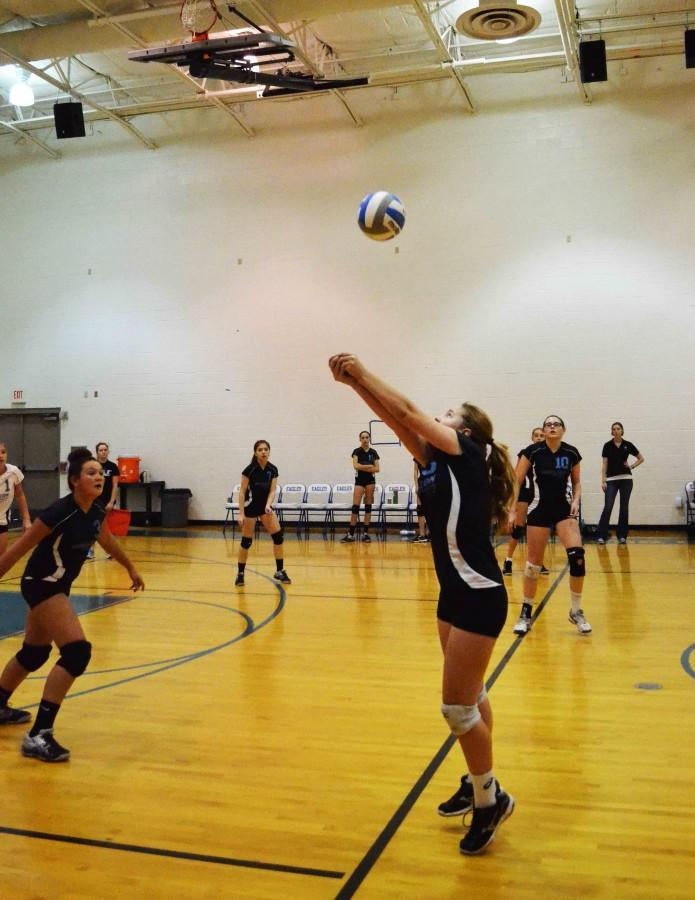 Photo Courtesy of Joseph Grosjean. MS Volleyball team played Phoenix Country Day.