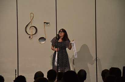 """Junior Joy Pizorno performs a number from """"Cry Baby."""""""