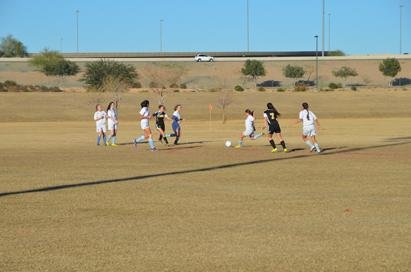 Girls Soccer playing against Saguaro.