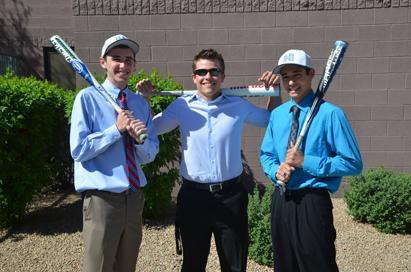 Seniors Zach Boledsoe Downes, Bryce Pharr, and Garrett Leake are ready to finish out their senior year with a new baseball season