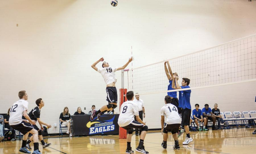 On Thursday, April 2, 2015, Horizon Honors played against Chandler High School in Boys' Volleyball.