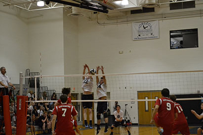 On Wednesday, Apr. 22, at 5 p.m., the JV boys' volleyball team prepared to face Seton Catholic Prep at home.