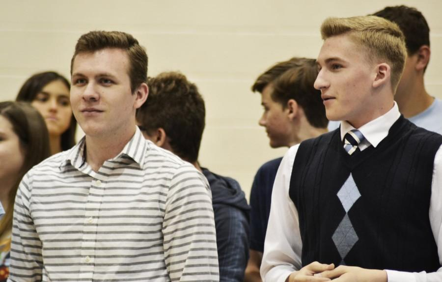 Bennet Wood and Chris Westersund. They are being recognized as the seniors in the latest Drama production.