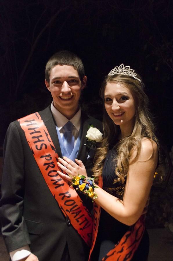 Seniors Garrett Leake and Timberlynerae Ziuraitis were this years Prom Senior Prince and Princess!