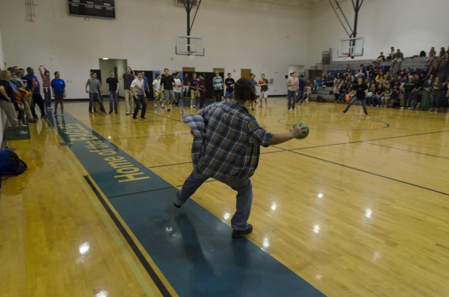 Senior Jacob Shupp participated in dodge ball!