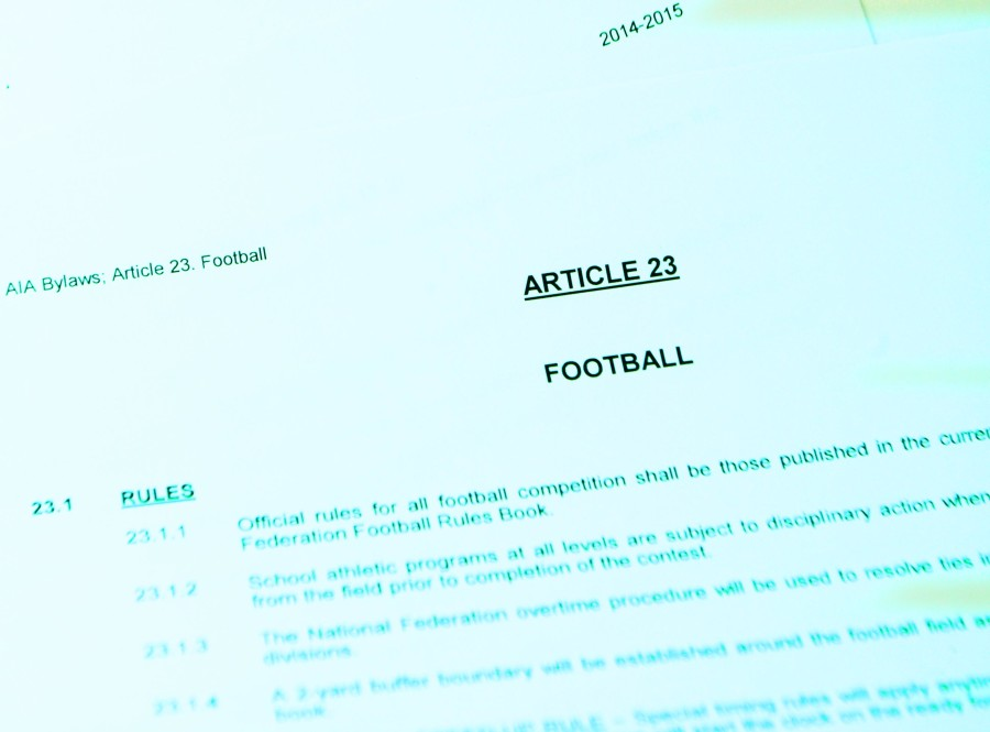 A copy of some of the AIA regulations regarding football.