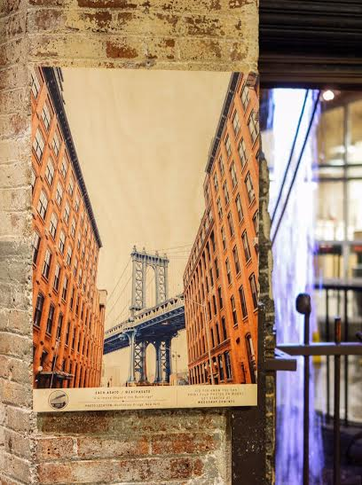 Five of Asato's photos were displayed at Chelsea Market, thanks to Woodsnap.