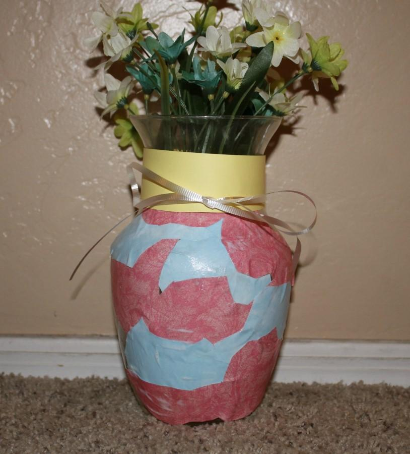 A decorated vase is perfect for Mother's Day.  Photo courtesy of Emmy Walker