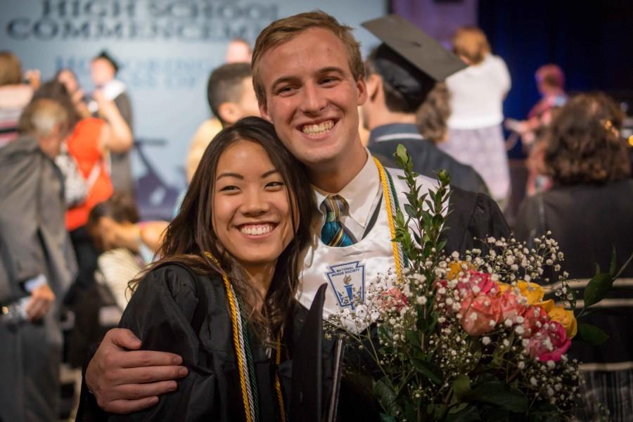 Graduates, Kendall Chan and Aidan Jacobs are excited to finish off their senior year.
