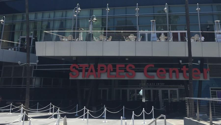 The Staples Center was a great place to hold the ceremony because of the many screens, which helped to see the stage.
