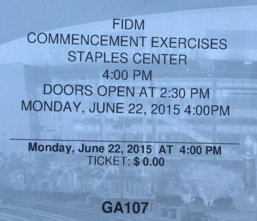 The tickets to the graduation.