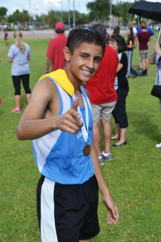 Noe Ramirez poses satisfied with his performance at the Pecos Invitational.