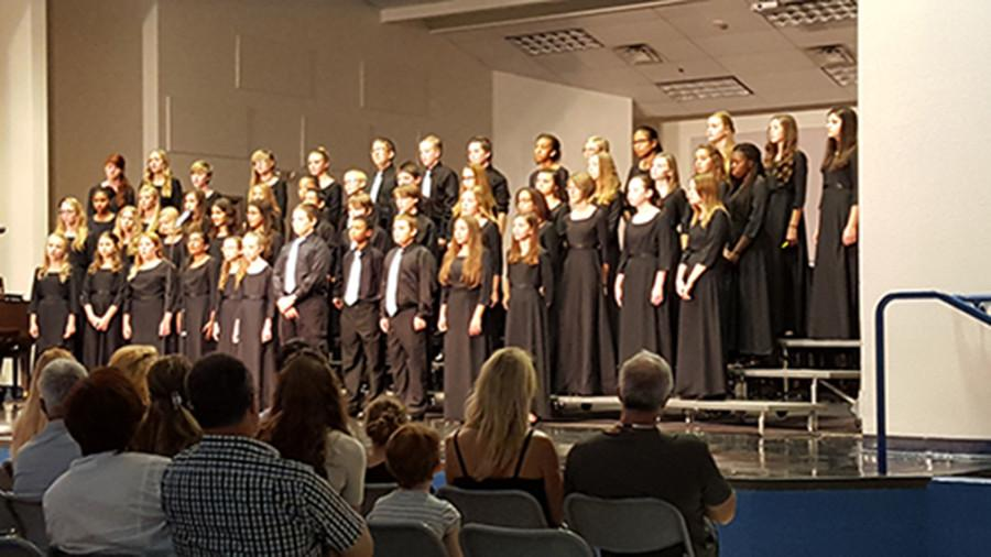 On Wednesday, September 16, the students in the Dolce Voce and Magnum Chordum choirs showed off what they had been working on all year. Although it was only three songs, each was difficult to master.