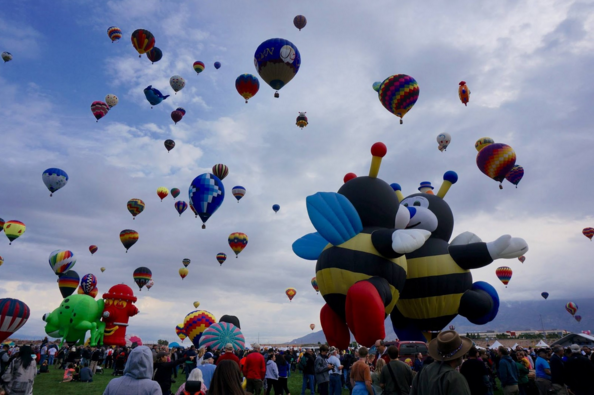 Flying Away with the Albuquerque Balloon Fiesta