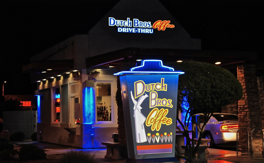 Dutch Bros is growing popularity, in fact, it's busy all hours of the night.