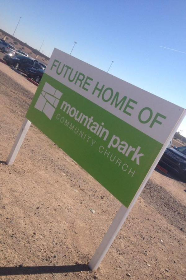 Soon there are going to be some changes to the parking lot across from the school: the addition of Mountain Park Community Church.