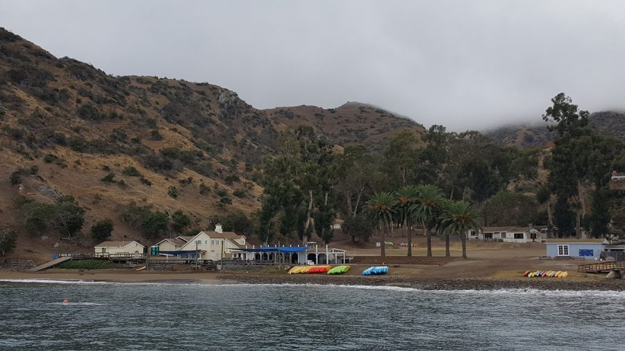 This photo captures most of Toyon Bay.