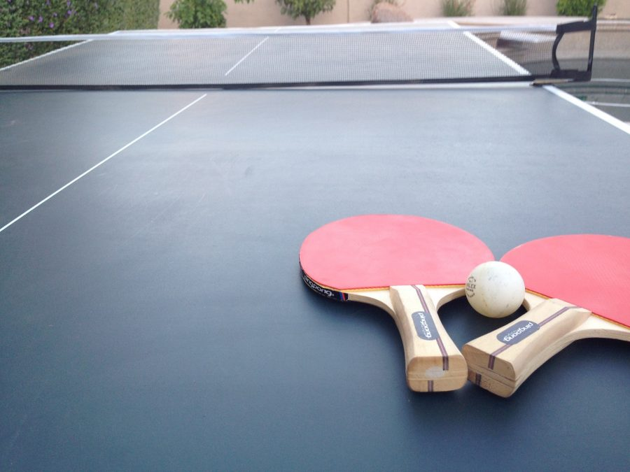The newly formed ping pong club needs donations of tables, paddles, and ping pong balls.